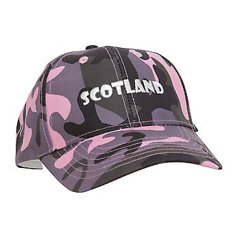 Ladies/Womens Scotland Embroidered Camouflage Baseball Cap
