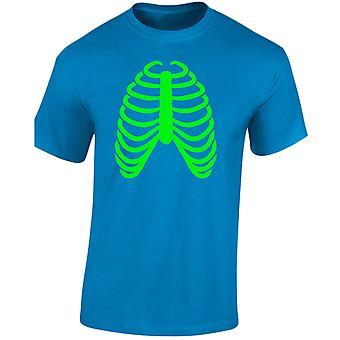 Bröstkorgen Halloween glöd i den mörka Mens T-Shirt 10 färger (S-3XL) av swagwear