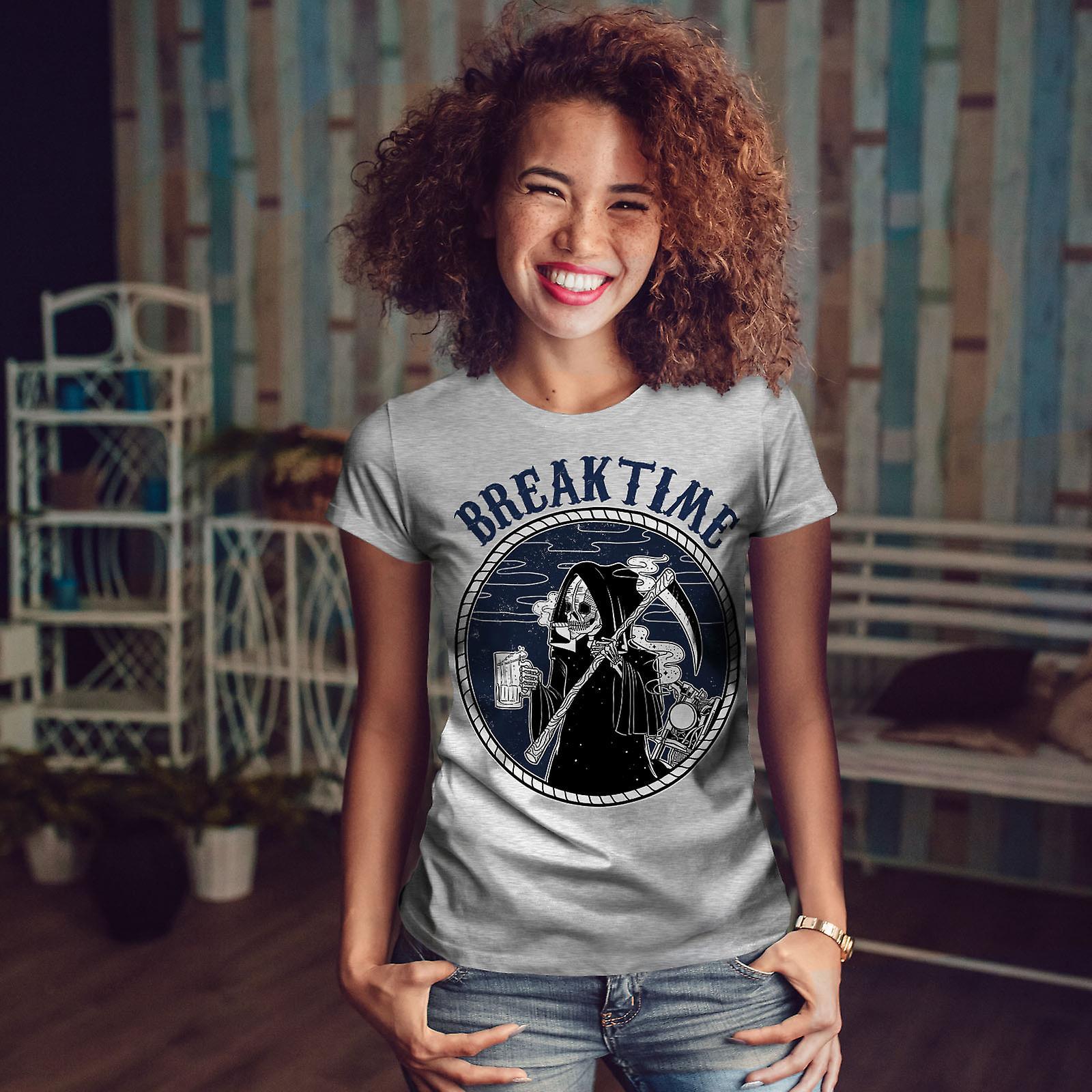 Briser le temps GreyT-chemise femme | Wellcoda