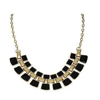 Womens Fashion Halskette glänzende Emaille Schmuckgold