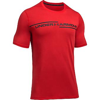 Onder pantser Mens Threadborne Wicking Cross borst korte mouw T Shirt