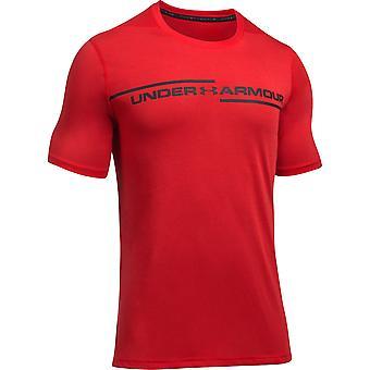Under Armour Mens Threadborne Wicking Cross Chest Short Sleeve T Shirt