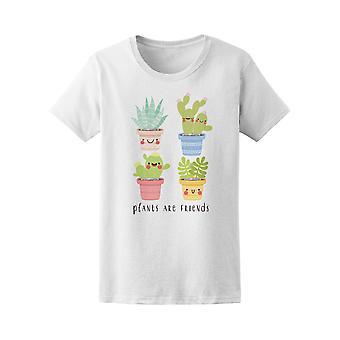 Kawaii Cactus Plants Are Friends Tee Women's -Image by Shutterstock