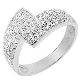 Orphelia srebro 925 pierścień mikro utorować cyrkonu ZR-3510