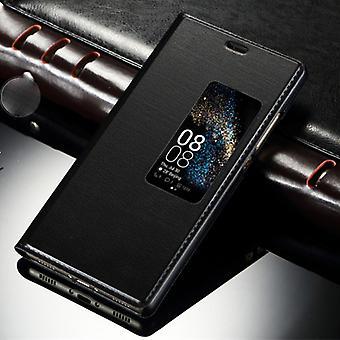 תיק הספרים חלון שחור עבור Huawei P10 פלוס שק