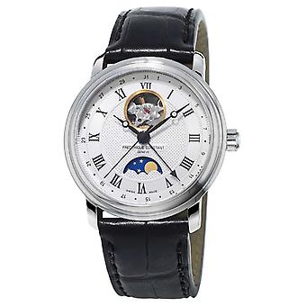 Frederique Constant Mens Classic Moonphase Heart Beat Leather FC-335MC4P6 Watch