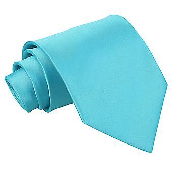 Robins ägg blå oformaterad Satin klassiska slips