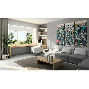 Maalaus - New York - mustavalkoinen, mutta väreillä120x80