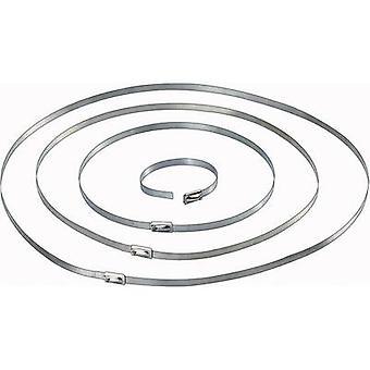 Conrad Components 546574 Kablo kravat ı 201 mm 4.60 mm Gümüş 10 adet(ler)