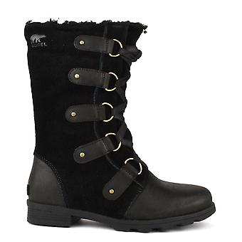Sorel Emelie Lace Black Suede Boot