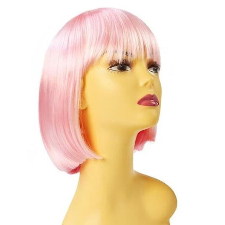 Party Wig - Candyfloss Pink - Short Bob Wig - Pastel Colours