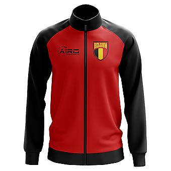 Bélgica concepto fútbol pista chaqueta (rojo)
