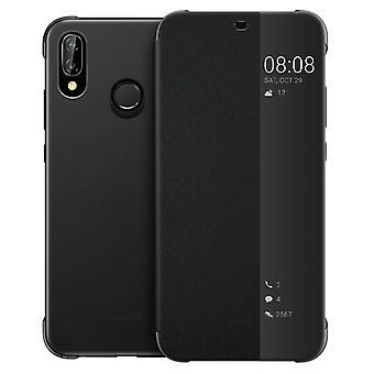 Officiel Huawei Smart View flip cas pour Huawei P20 Lite - noir