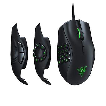 Razer Naga Trinity Gaming Mouse MOBA/MMO (3 Interchangeable Side Plates, Precise 16,000 DPI 5G Optical Sensor, Mechanical Mouse Switches, Chroma RGB and Up to 19 Programmable Buttons)