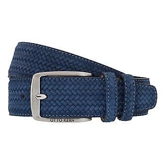 OTTO KERN belts men's belts leather belt Suede Blue 7479