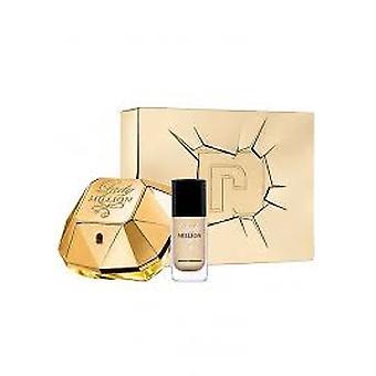 Paco Rabanne Lady miljoonaa lahjapakkaus 50ml EDP + 9ml Lady miljoonaa Gold kynsilakka