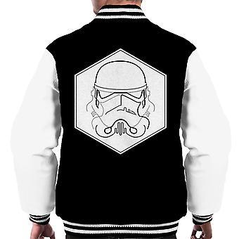Original Stormtrooper Line Art Hexagon Men's Varsity Jacket