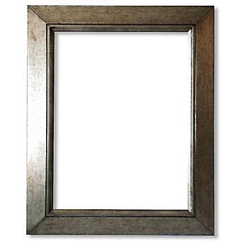 15x30 cm, silver wooden frame