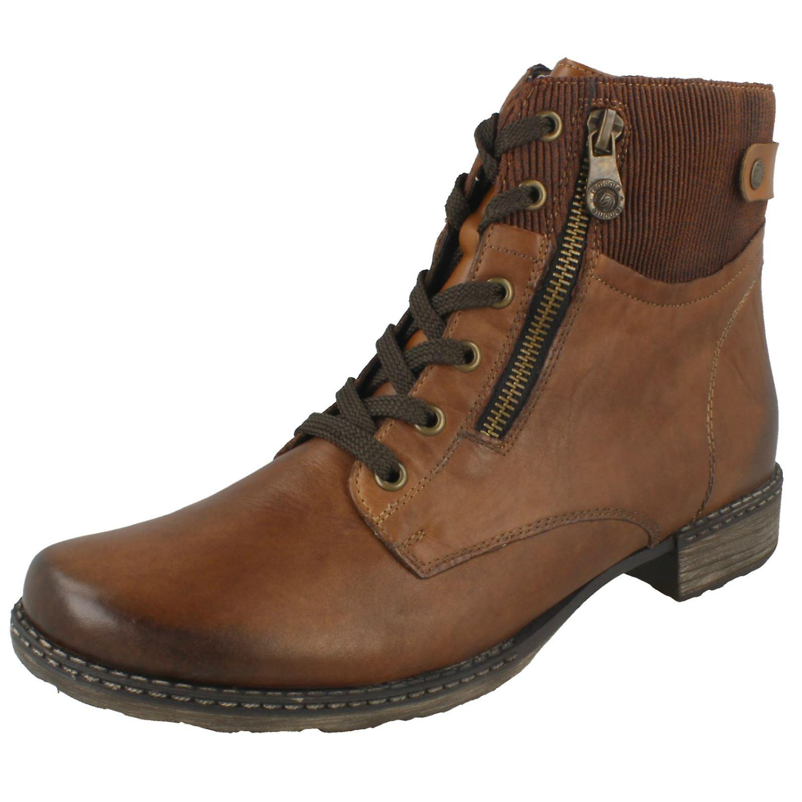 Ladies Remonte Ankle Boots D4379-25 - Brown Leather - UK Size 8 - EU Size 42 - US Size 10 XEj6d