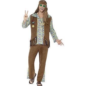 60 ' s hippi jelmez, sokszínű, nadrágos, Top, mellény, emlékérem & fejpánt