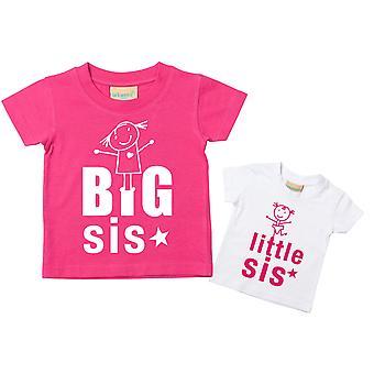 Große Schwester kleine Sis-Tshirt-Set