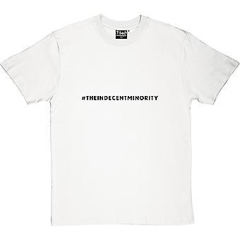 camiseta #indecentminority hombres