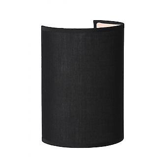 Lucide Coral Cottage Half-ronde katoen zwart Wall Light