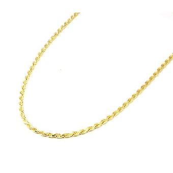 """Toc Goldtone on Sterling Silver 16 Gram Plated Rope Necklace 18"""""""