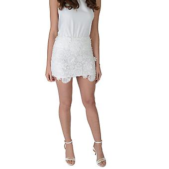 Lovemystyle High Waisted Lace Midi Skirt In White