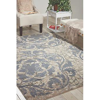 Maxell MAE10 Ivory Blue  Rectangle Rugs Modern Rugs