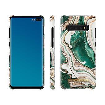 iDeal von Schweden Samsung Galaxy S10 +-Golden Jade Marmor