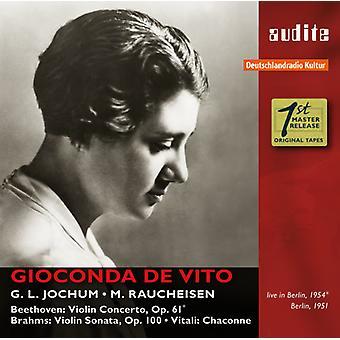 Beethoven, L. / Raucheisen, Michael - Gioconda De Vito Plays Beethoven Brahms & Vitali [CD] USA import
