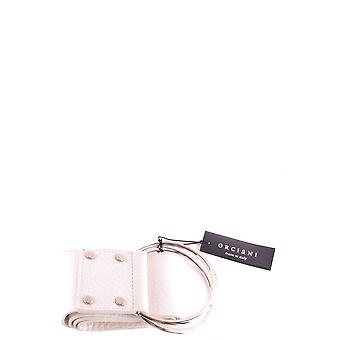 Orciani Ezbc136011 Women's White Leather Belt