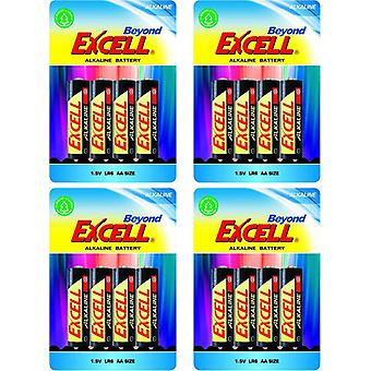 16-pack AA Batteries , LR6 Excell Beyond Alkaline Battery