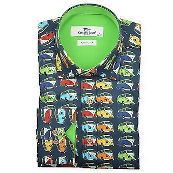 Claudio Lugli Camper Van imprimer chemise Mens