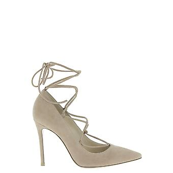 Gianvito Rossi G2074715riccampral Women's Beige Leather Sandals