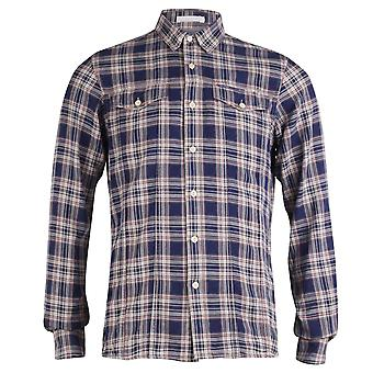 Firetrap Langstrecken-Miner Classic Check Shirt, Tinte, Small