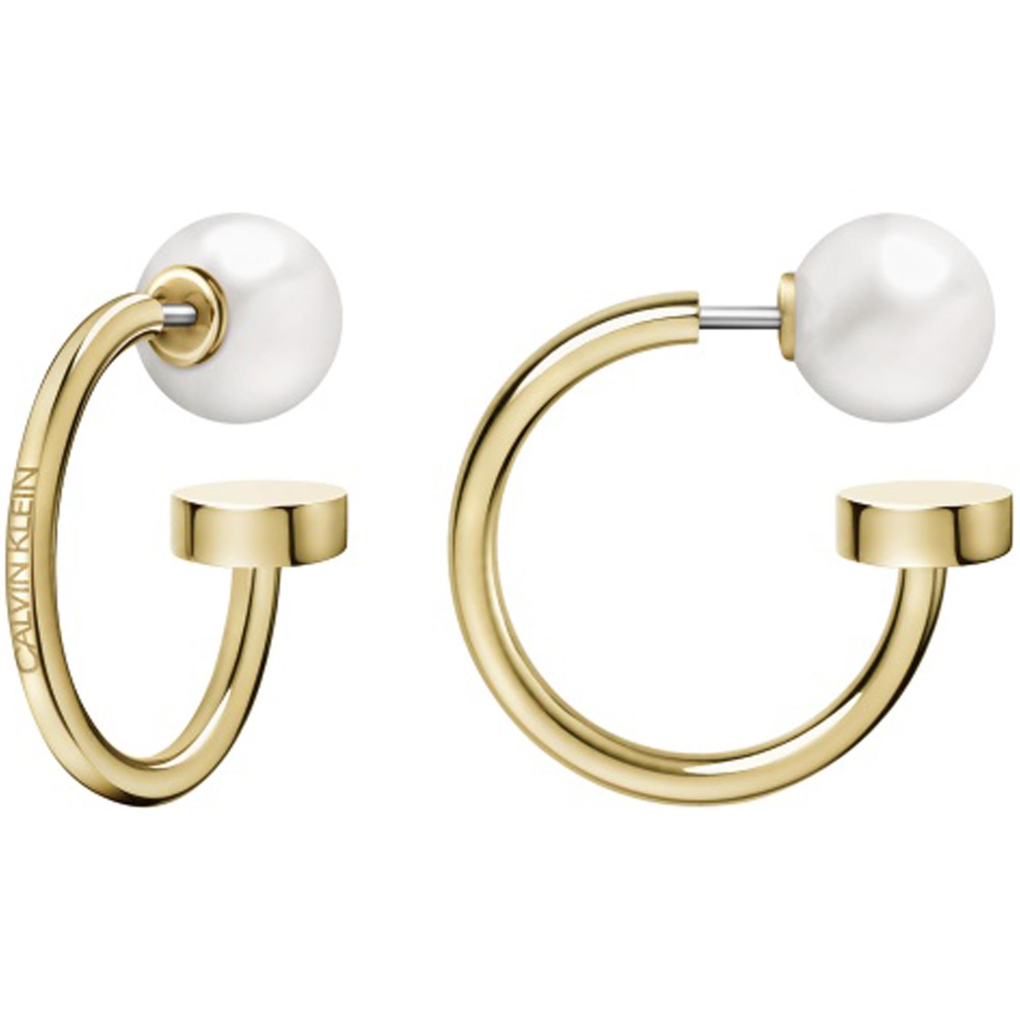 Calvin Klein Bubbly Gold Stainless Steel Earrings KJ9RJE140100