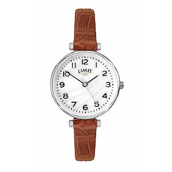 Limit | Womens Brown Leather Strap | Mother Of Pearl Dial | 60060.01 Watch