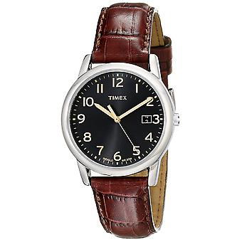 Timex Mens South Street Brown Croco Pattern Leather Strap Watch T2N948
