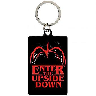 Stranger Things Metal Keyring à l'envers
