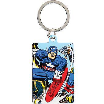 Marvel Comics Captain America Metal Keyring