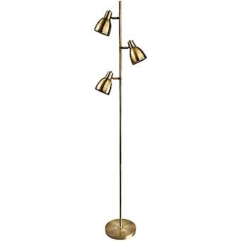 Firstlight - 3 Light Floor Lamp Antique Brass - 3468AB