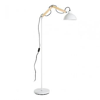 Premier Home Blair White Wood / Metal Floor Lamp, Wood, White