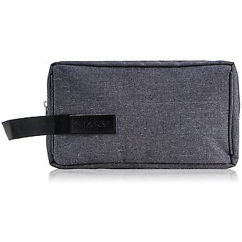 SHANY Travel Toiletry and Makeup Bag – Zippered Grooming Organizer with Two Nylon-Lined Openings and Carrying Handle – GRAY