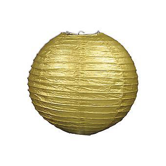 Papier Laternen (Pack von 3) - Gold