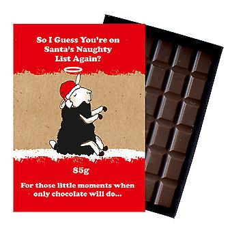 Funny Christmas Gift For Men Women Boxed Chocolate Festive Xmas Present for Him or Her XMS106