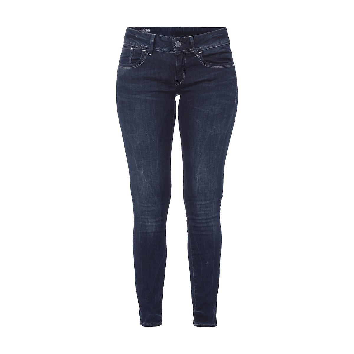 G-Star RAW Stone Washed Skinny Fit Jeans Damen Hose Denim Blau