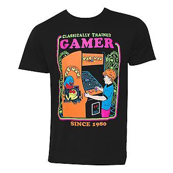 Pac-Man Classically Trained Gamer Men's Black T-Shirt