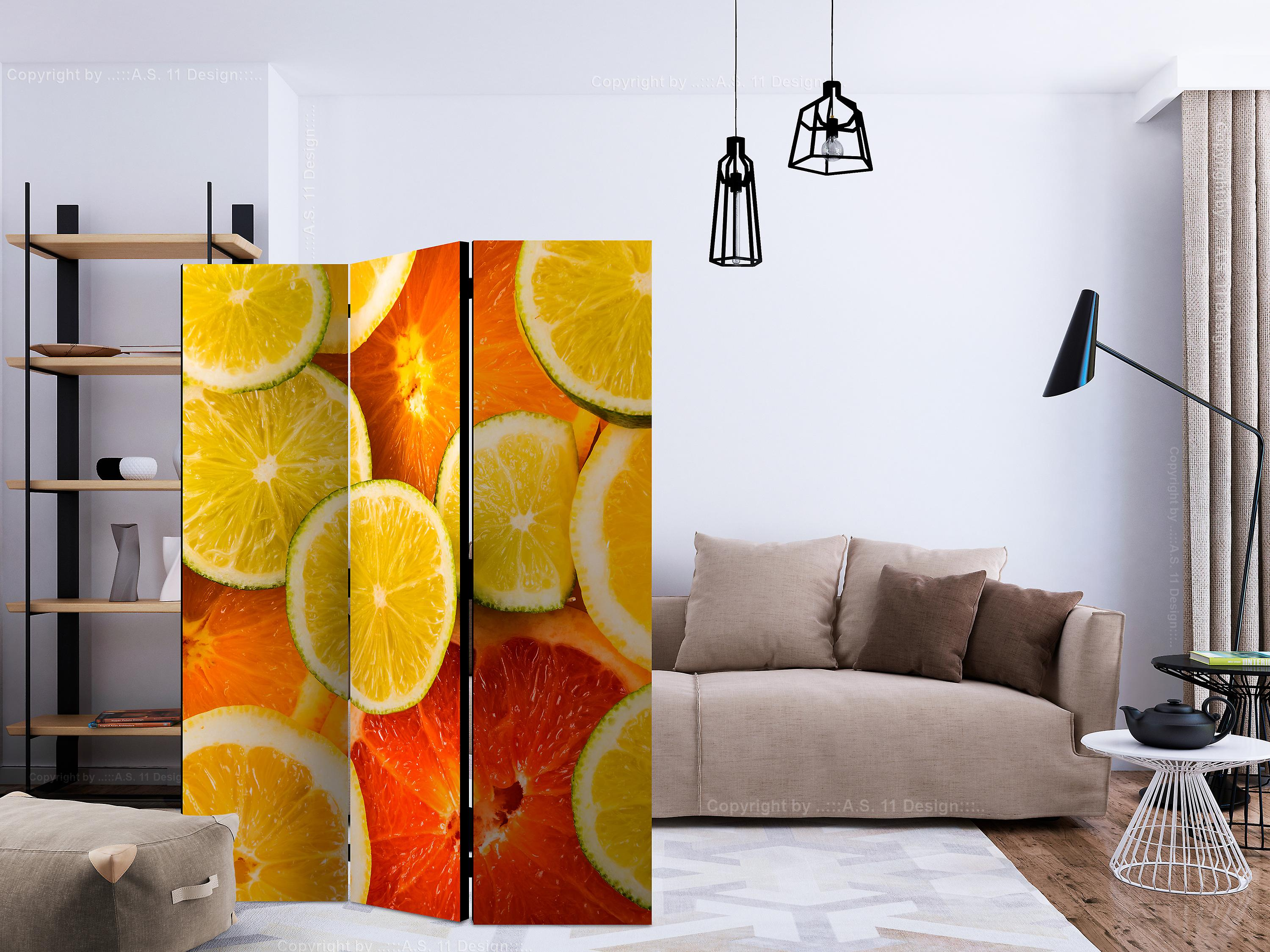 Paravent 3 volets - Citrus fruits [Room Dividers]